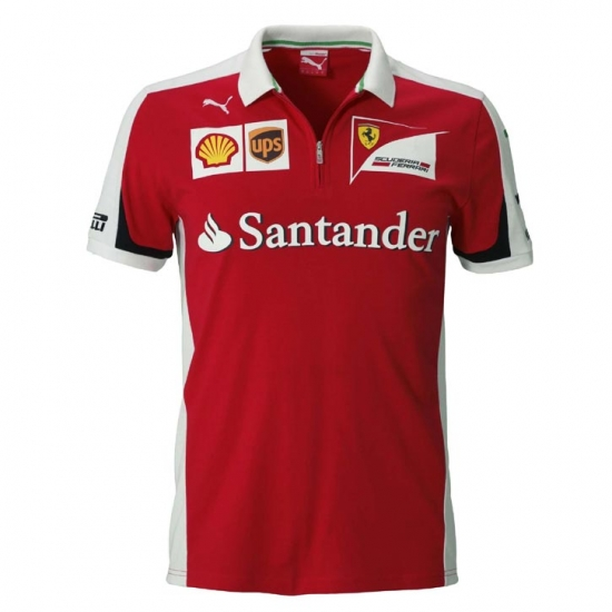 Puma Ferrari Red Team Polo Shirt 2015