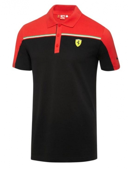 Puma Ferrari Black SF Polo Shirt