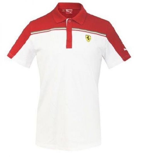 Puma Ferrari White SF Polo Shirt