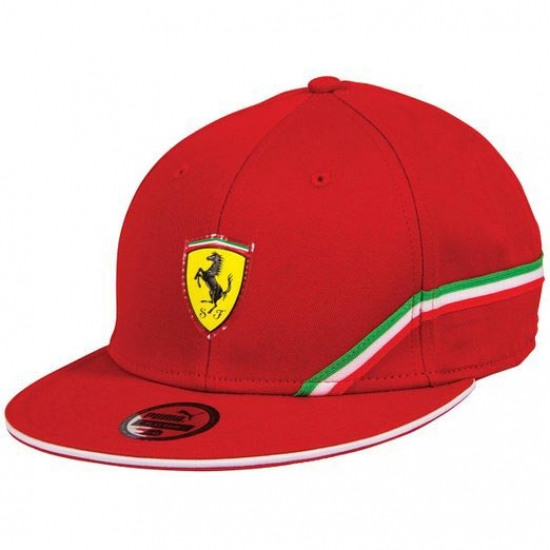 Puma Ferrari Red SF Flat Brim Hat