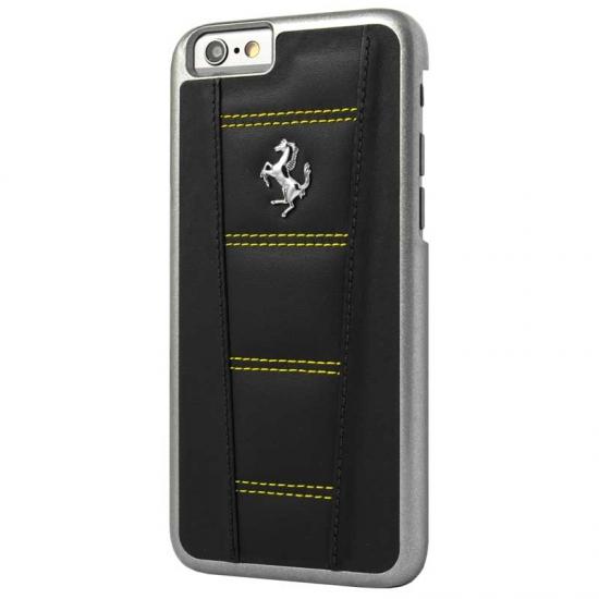 Ferrari 458 Black-Yellow Stitch iPhone 6/6S