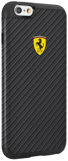 Ferrari iPhone 6/6S Shockproof Carbon Fiber Case