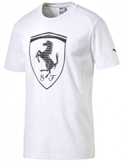 Puma Ferrari White Big Shield Tee