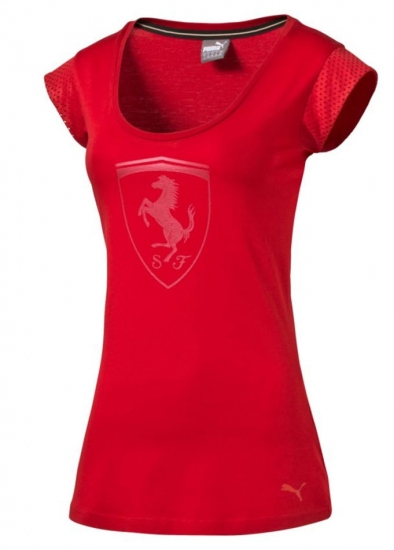 Puma Ferrari Ladies Shield Red Tee