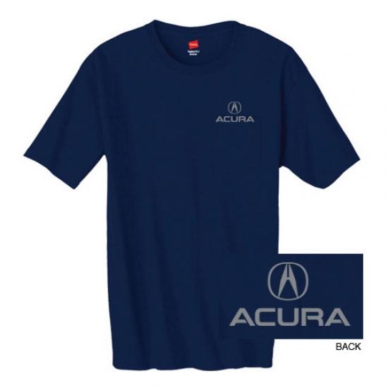 Acura Navy Pocket Tee Shirt