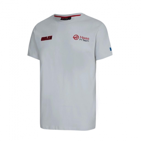Haas F1 Grey Grosjean Fan Tee Shirt