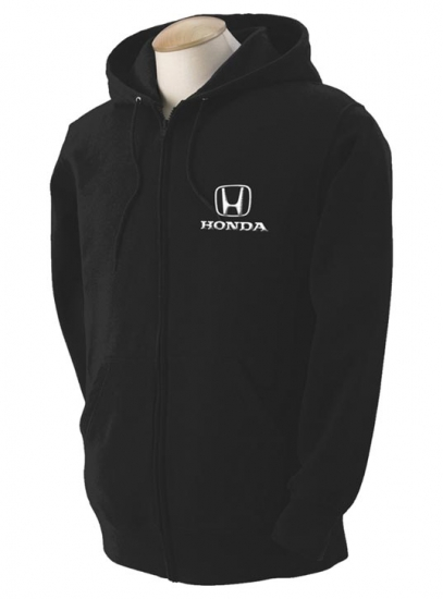 Honda Black Hooded Full Zip Sweatshirt