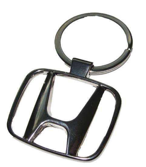 Honda Chrome Metal Logo Keychain