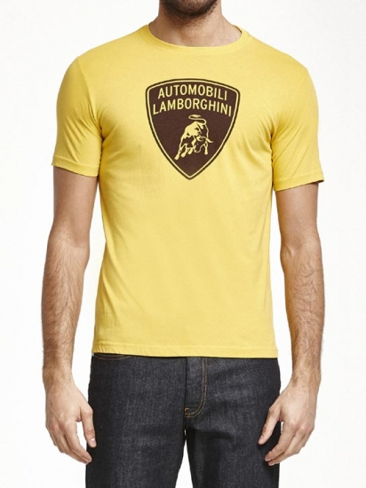 Automobili Lamborghini Yellow Shield Tee Shirt