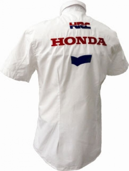 Honda HRC Moto GP White Team Crew Shirt