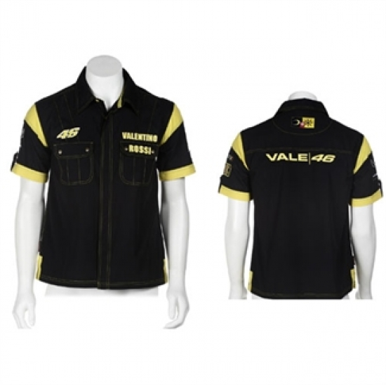 Valentino Rossi Black #46 Slim Fit Shirt