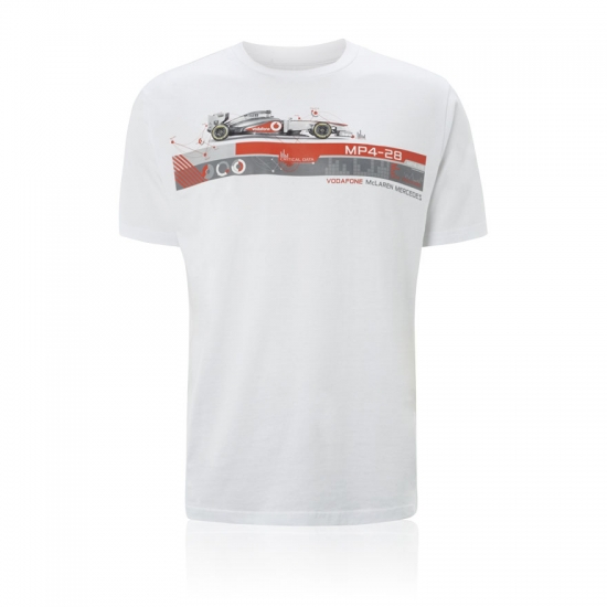 Vodafone McLaren Mercedes MP4-28 Car Tee Shirt