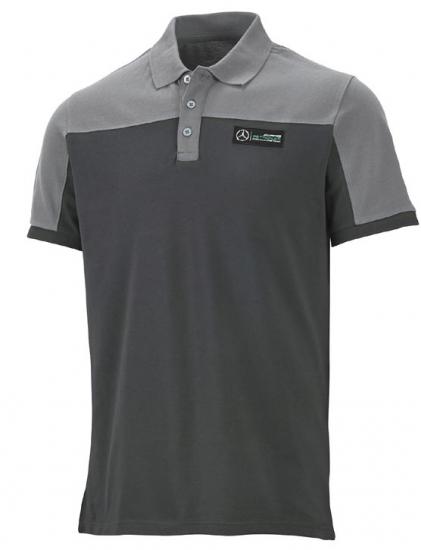 Mercedes AMG Petronas Gray Race Polo Shirt