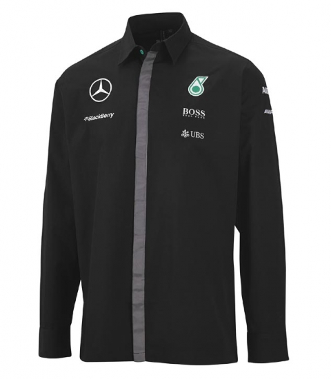 Mercedes AMG Petronas Black Long Sleeve Team Shirt