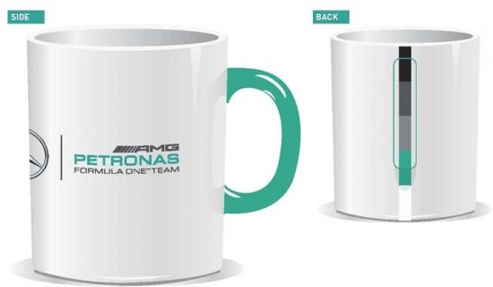 Mercedes AMG Petronas F1 White Team Mug