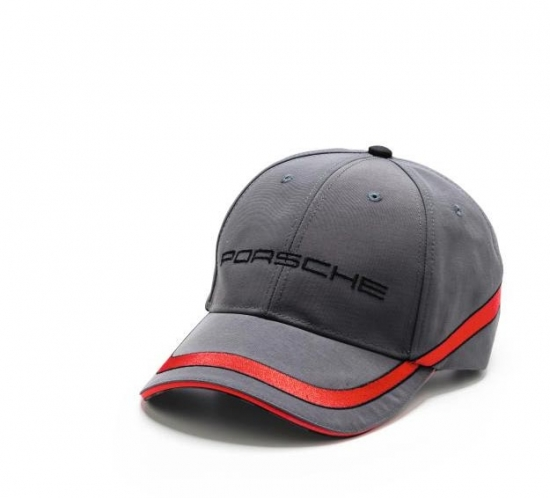Porsche Grey Racing Stripe Hat