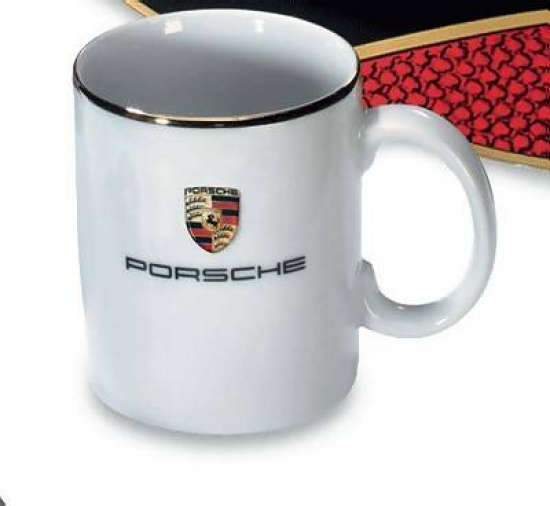 Porsche White Coffee Mug