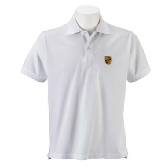 Porsche Crest White Polo Shirt