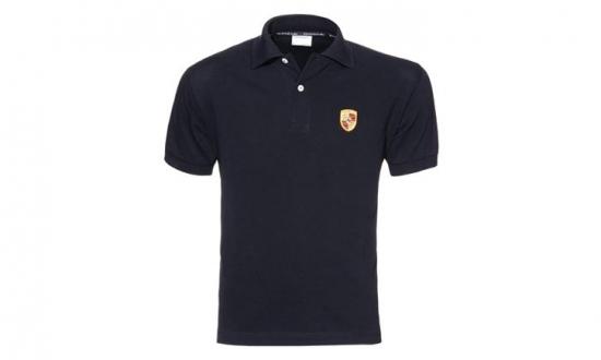 Porsche Crest Black Polo Shirt