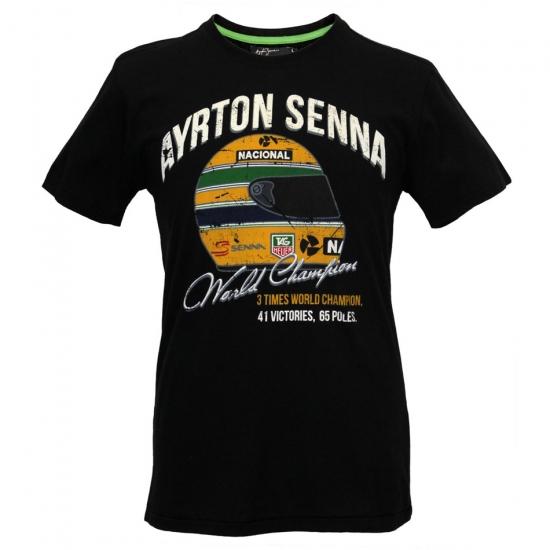 Ayrton Senna World Champ Black Tee Shirt