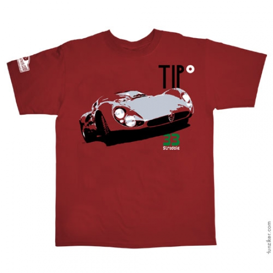 Hunziker Tipo 33 Stradale Red Tee Shirt