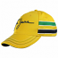Ayrton Senna Yellow Helmet Hat