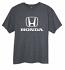 Honda Heather Grey Logo Tee