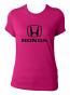Honda Ladies Pink V-Neck Tee