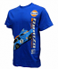 Retro Gulf 1971 Monza Blue Tee Shirt