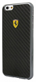 Ferrari iPhone 6/6S Plus Black Carbon Fiber Case