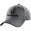 Honda 3D Grey Classic Logo Hat