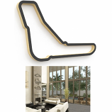 Linear Edge Monza Track Wall Art