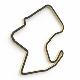 Linear Edge Laguna Seca Track Wall Art