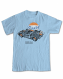 Ford GT40 Gulf Retro Blue Tee Shirt