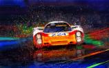 Porsche 907 Vic Elford Targa Floria Canvas Print