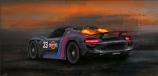 Porsche 918 Afterburns On Canvas Print