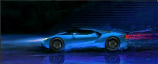 2016 Ford GT Blue Byeuw Canvas Print