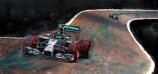 Mercedes AMG Petronas Rosberg-Hamilton 2014 Canvas Print