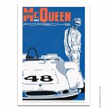 Nicolas Hunziker Porsche 908 Paddock Steve McQueen Poster