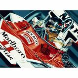 James Hunt Remembering James 1976 Mclaren Lithograph