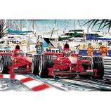 Monaco Ferrari Lithograph