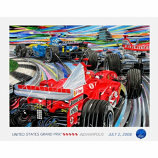 US Grand Prix 2006 Lithograph