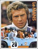 Steve McQueen Gulf Le Mans Poster