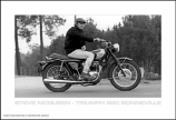 Steve McQueen Triumph Motorcycle Poster