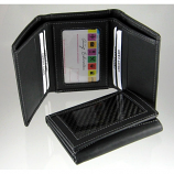 Carbon Fiber Wallet Tri-Fold Black