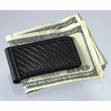 Carbon Fiber Money Clip Black