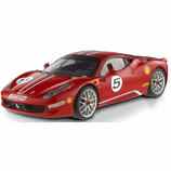 Ferrari 458 Italia Challenge Red Hotwheels Elite 1/18th Diecast Model