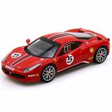 Ferrari 458 Italia Challenge Red #5 Hotwheels Elite 1:43rd Diecast
