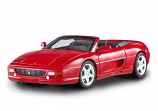 Ferrari F355 Spider Red Hotwheels Elite 1:18th