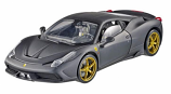 Ferrari 458 Italia Speciale Matt Black Hotwheels Elite 1:18th